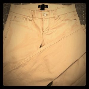 White House Black Market Light Pink Skinny Jeans